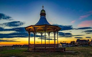 Nairn bandstand at sunrise.