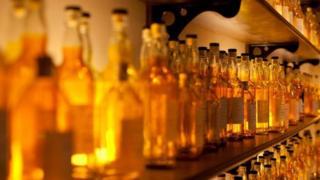 Scotch whisky bottles