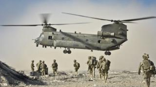 British Chinook in Afghanistan