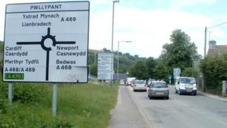 The Pwll-Y-Pant roundabout in Caerphilly