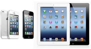 Apple iPhones and iPads