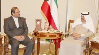 دیدار خالد الجارالله، معاون وزیر خارجه کویت با محمد ایرانی، سفیر ایران