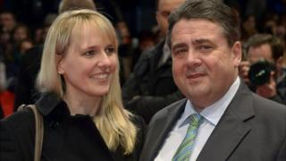 Sigmar Gabriel with wife Anke, 2014 file photo