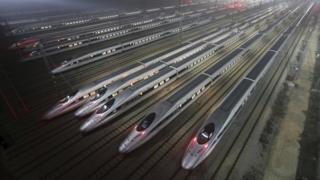湖北武漢的高鐵維修基地