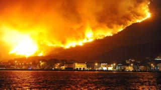 пожежі у Чорногорії
