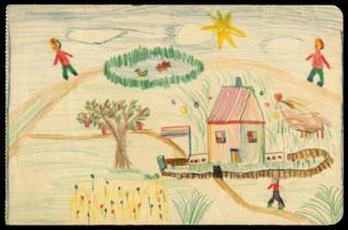 Childhood sketch by Lucian Freud