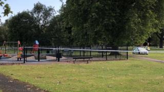 Police at Alderman Park