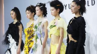 Caroline Hu collection at the BoF China Prize at Shanghai Fashion Week 2019