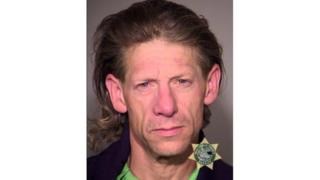 A photo from Portland Police showing suspect George Elwood Tschaggeny