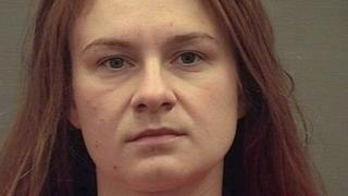 "Maria Butina appears in a police booking photograph released by the Alexandria Sheriff""s Office in Alexandria, Virginia, U.S. August 18, 2018"