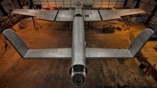 Lancaster bomber bare metalwork