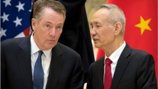 US trade representative Robert Lighthizer, China's Vice Premier Liu He