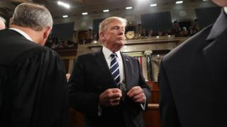 Trump gives address to Congress
