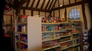 Shop in duchy barn