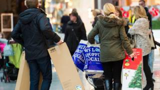 Shoppers at Silverburn Shopping Centre