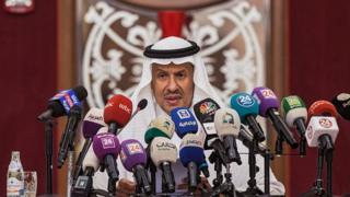 Suudi Arabistan Enerji Bakanı Prens Abdülaziz bin Salman, Cidde'de basın toplantısı düzenledi