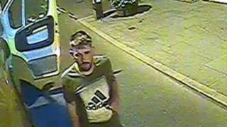 Image released from CCTV of a a man police would like to speak to about the theft