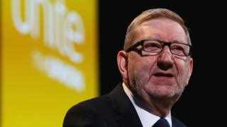 Unite General Secretary Len McCluskey, who is stepping down and will seek re-election for a further term of office from next April, the union announced.