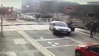 Incident on crossing in Lincoln