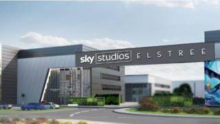 Artists impression of Sky Studios Elstree