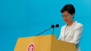 Trong buổi họp báo hôm 18/6, bà Carrie Lam cũng nói hãy cho bà 'một cơ hội nữa để lãnh đạo'