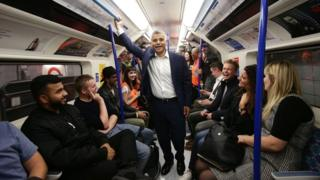 Sadiq Khan on Tube