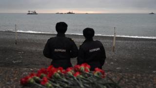 Берег у места гибели Ту-154 в Сочи