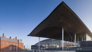The Senedd building in Cardiff Bay.