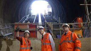 Duke of Edinburgh visits Crossrail construction project