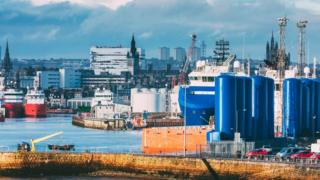 Much of Scotland's oil industry operates out of Aberdeen Harbour