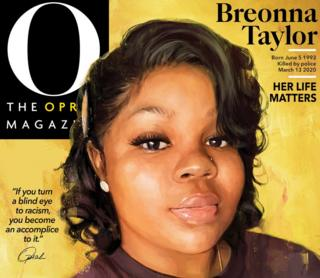 The cover of the September issue of Oprah magazine, with a photo of Breonna Taylor