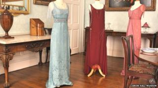 Downton Abbey costumes at Cannon Hall Museum