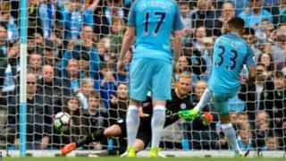 De Jesus akifunga mkwaju wa penalti na kuisadia City kuishinda Leicester 2-1