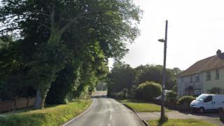crash site in Downend Road