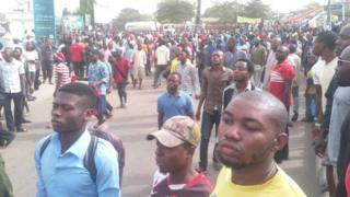 protesters for Makurdi