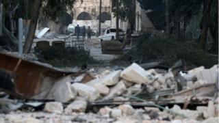 مشاهد تدمير في حلب