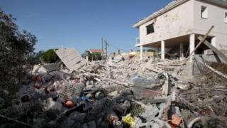 خانه واقع درشهر الکانار که انفجار در آن رخ داد