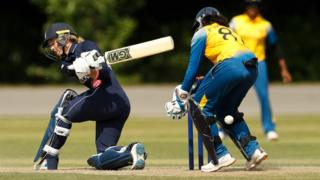England v Sri Lanka in a Women's World Cup warm up cricket match