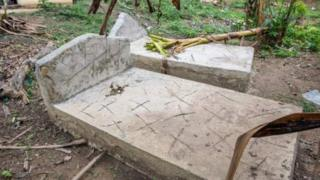 two graves in Liberia