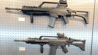 Un rifle G36 de Heckler & Koch