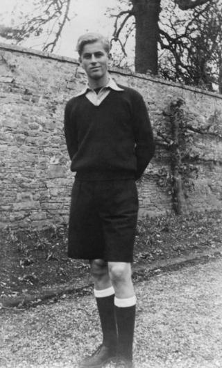 Prince Philip at Gordonstoun aged 16