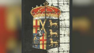 Cromwell's funeral banner