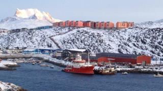 A view across the Fjord in Greenlandic capital, Nuuk