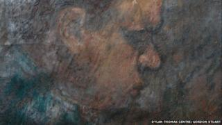 Detail from the last portrait of Dylan Thomas by Gordon Stuart