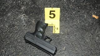 Gun at crime scene