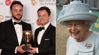 Ant and Dec and the Queen