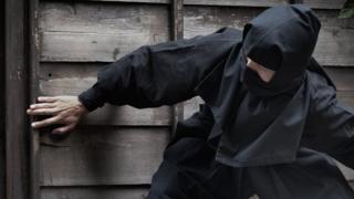 The thief was wearing all black like a ninja (file photo)