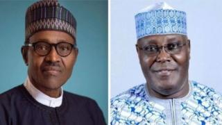 Atiku Abubakar na PDP da shugaba Muhammadu Buhari na APC