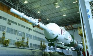 Soyuz rocket and crew module