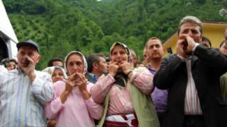 Kuskoy locals whistling the 'bird language' in Turkey